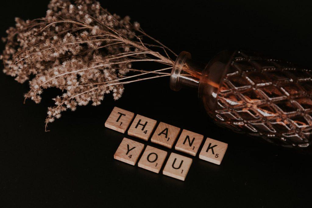 remerciements après le salon professionnel